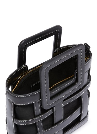 Detail View - Click To Enlarge - STAUD - 'Shirley Plaid' woven leather tote bag