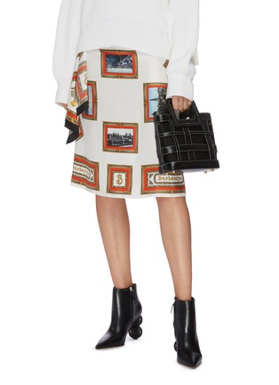Figure View - Click To Enlarge - STAUD - 'Shirley Plaid' woven leather tote bag