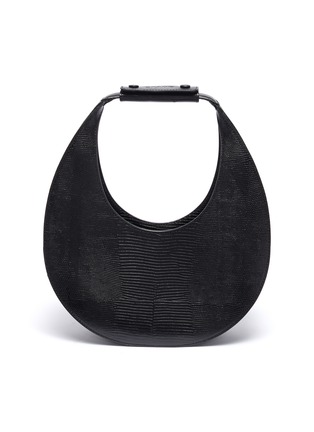 Main View - Click To Enlarge - STAUD - 'Moon' lizard embossed leather shoulder bag