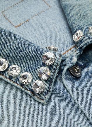 - MIU MIU - Glass crystal collar denim jacket