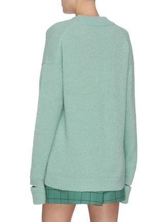 Back View - Click To Enlarge - TIBI - Split cuff alpaca blend sweater
