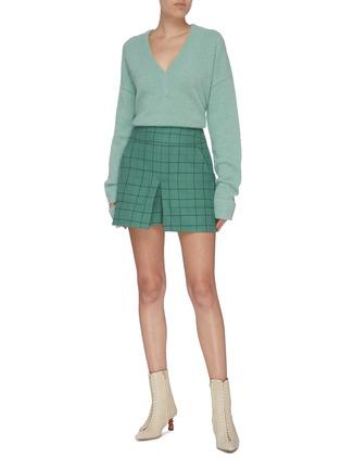 Figure View - Click To Enlarge - TIBI - Split cuff alpaca blend sweater