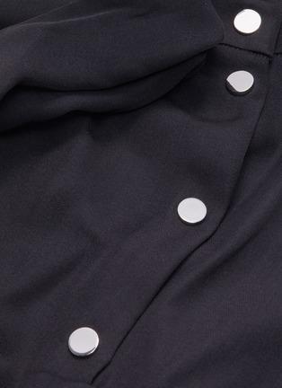 - TIBI - 'Modern' mock neck shirred drape panel dress