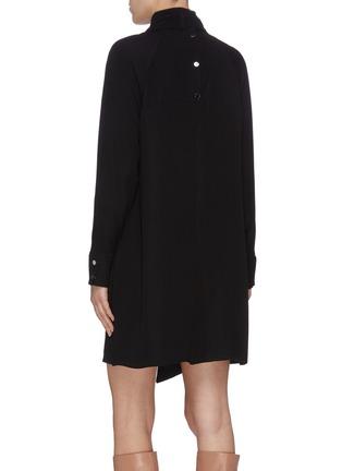 Back View - Click To Enlarge - TIBI - 'Modern' mock neck shirred drape panel dress