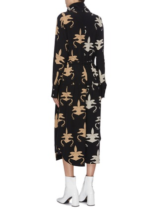 Back View - Click To Enlarge - TIBI - 'Ghost Orchid' print silk jumpsuit