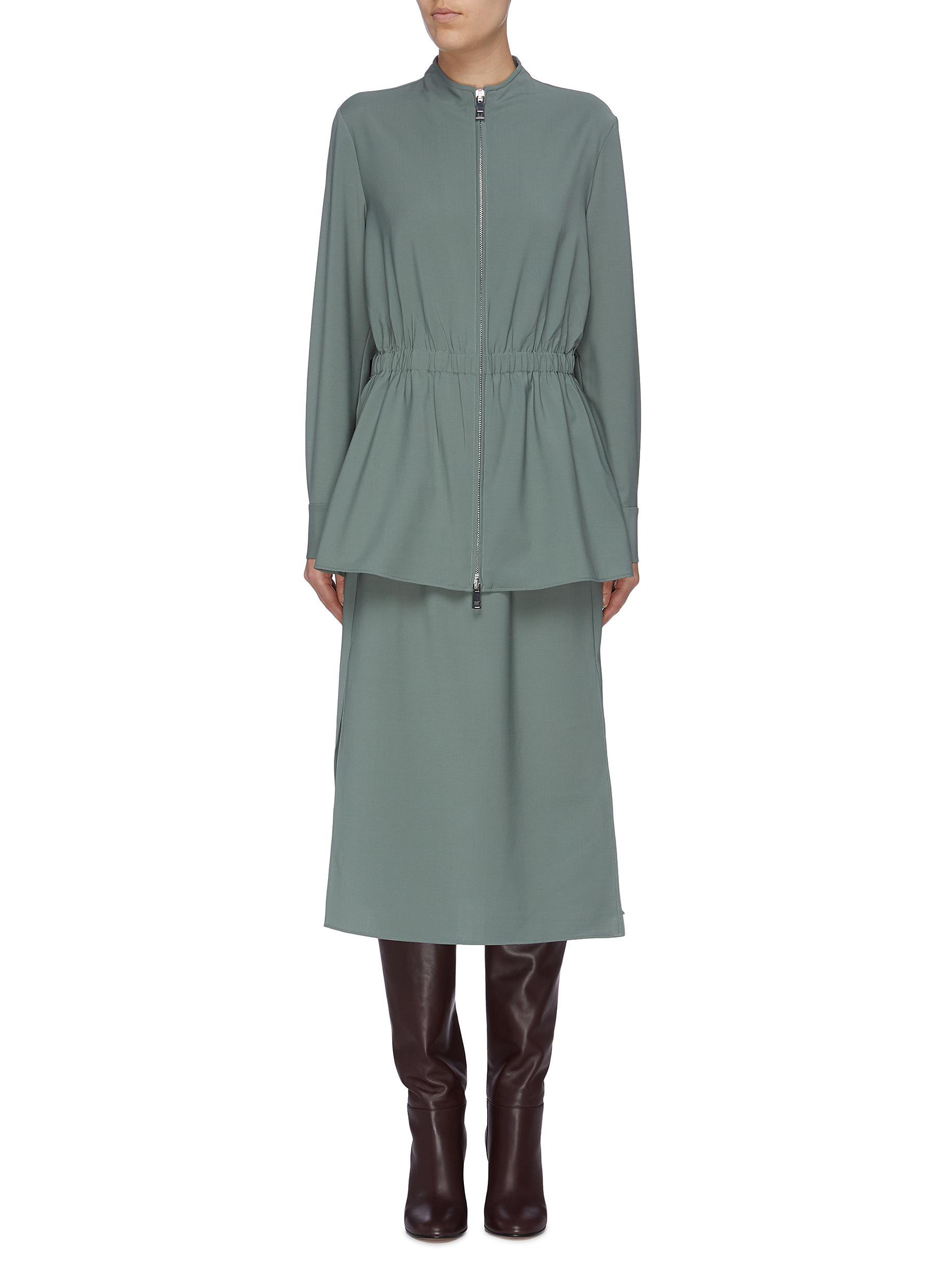 Layered ruched waist dress by Tibi