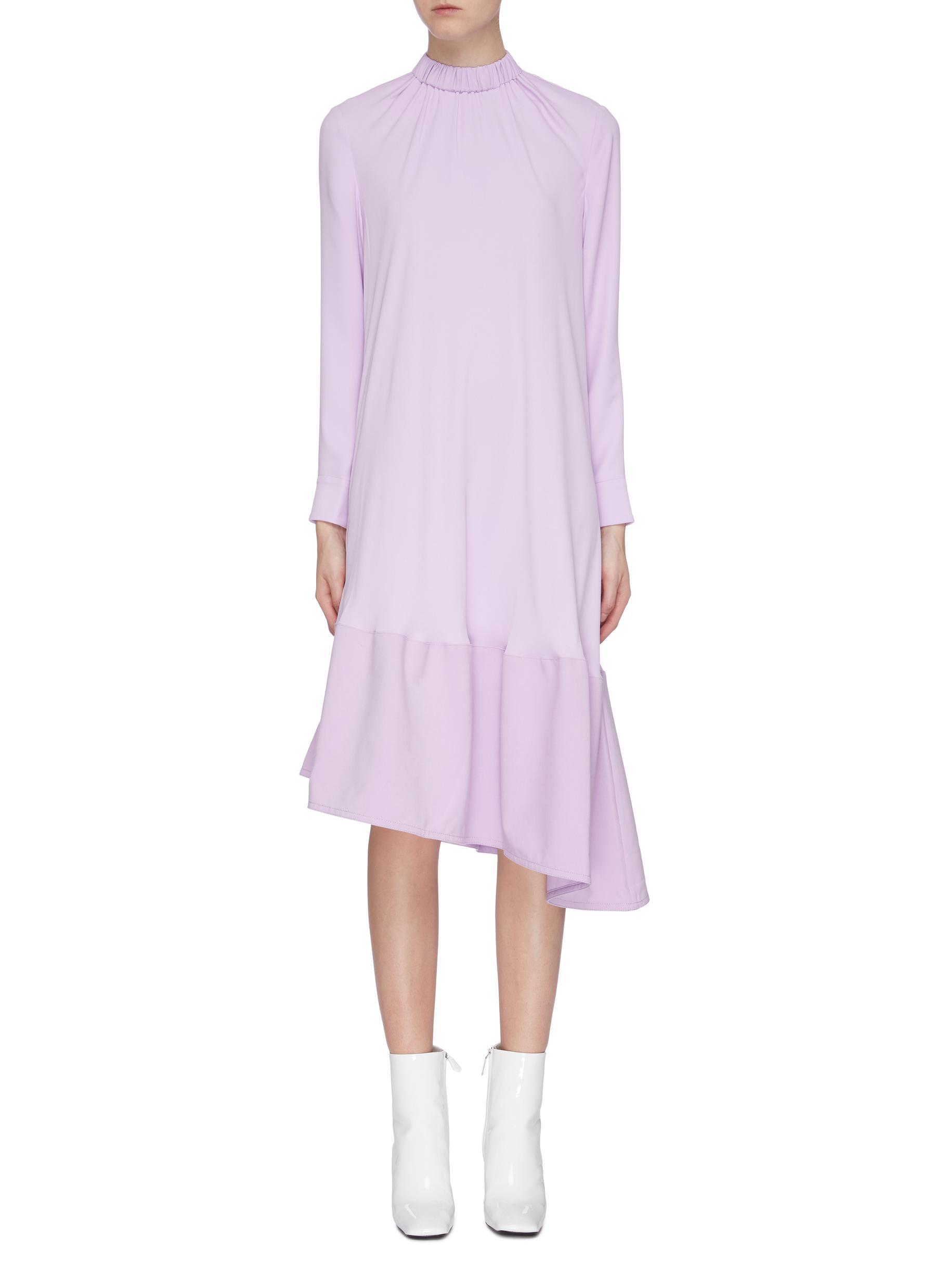 Modern asymmetric hem midi dress by Tibi