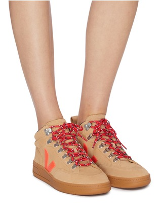 Figure View - Click To Enlarge - VEJA - 'Roraima' suede high top sneakers