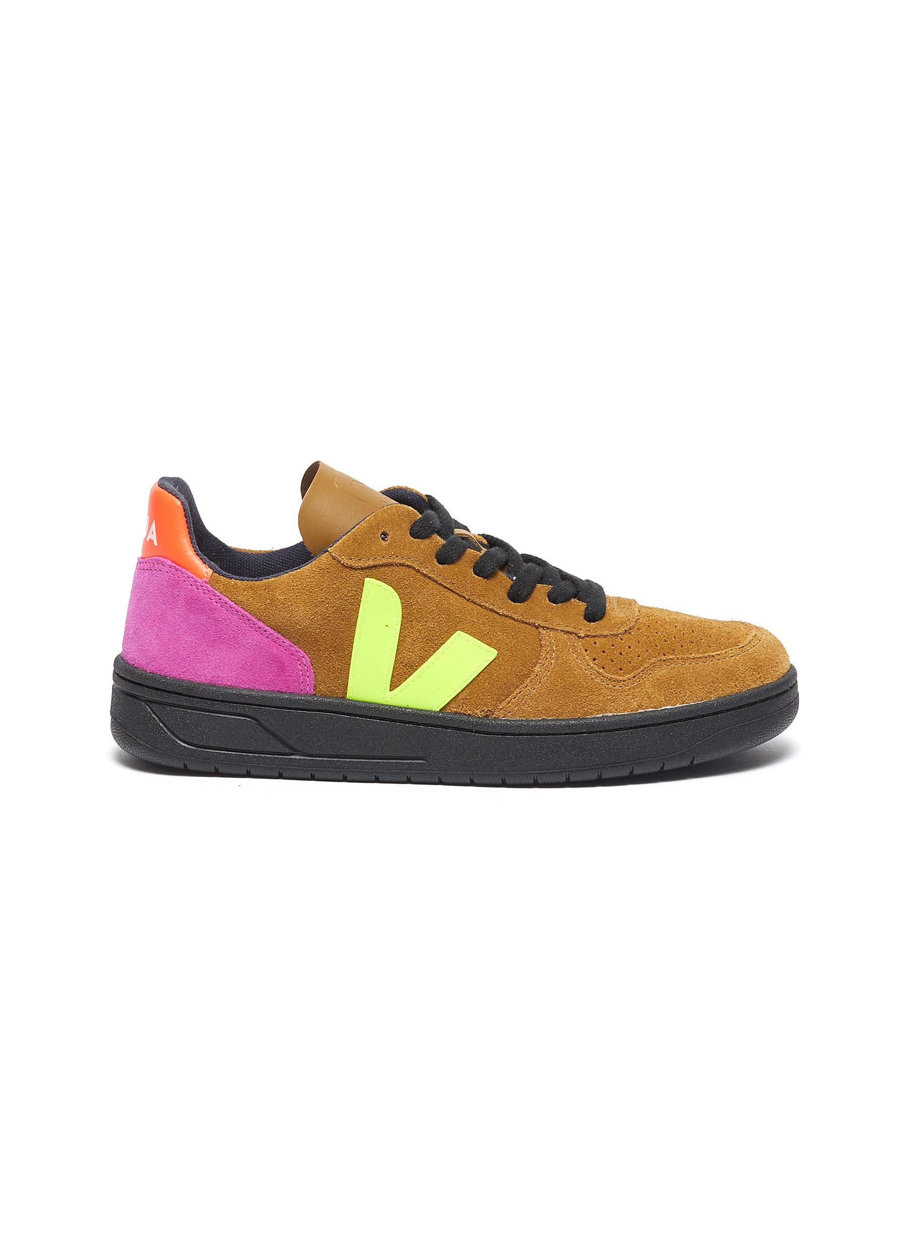 V-10 colourblock suede sneakers by Veja