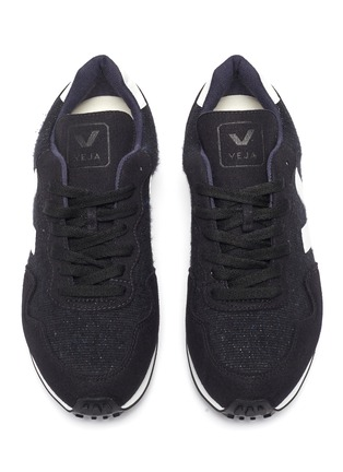 Detail View - Click To Enlarge - VEJA - 'SDU' suede panel woven sneakers