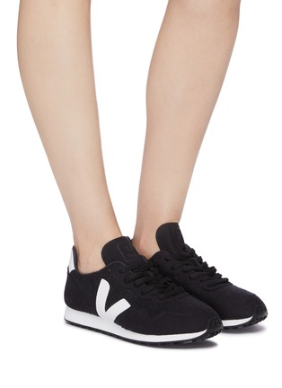 Figure View - Click To Enlarge - VEJA - 'SDU' suede panel woven sneakers
