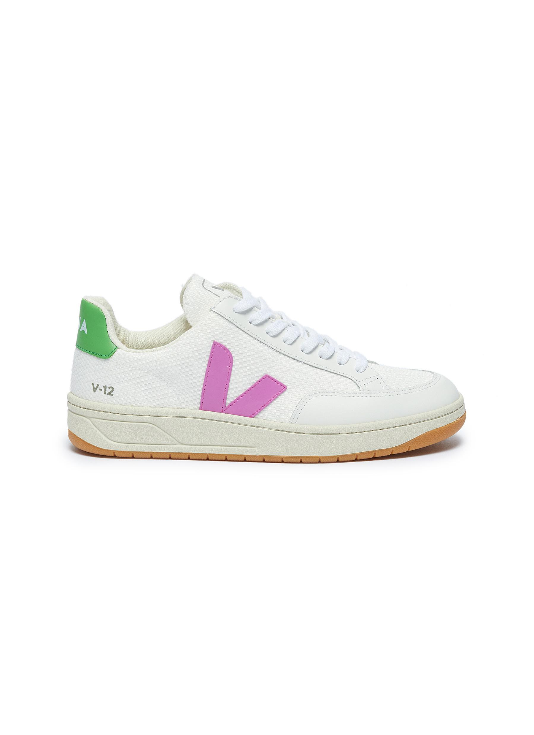 V-12 leather panel B-mesh sneakers by Veja