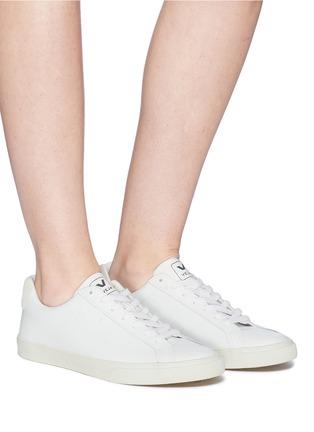 Figure View - Click To Enlarge - VEJA - 'Esplar' leather sneakers