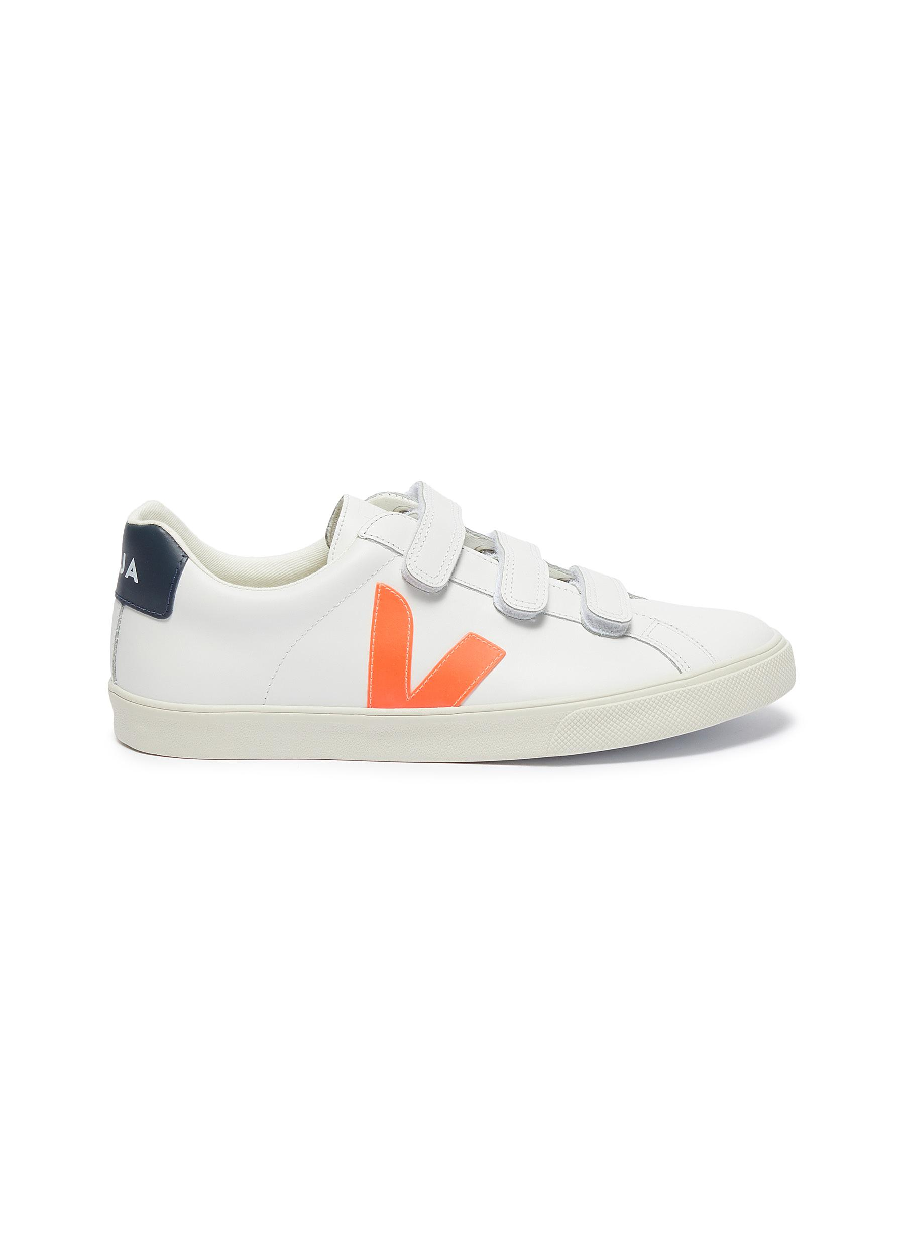 3-Lock Logo leather sneakers by Veja