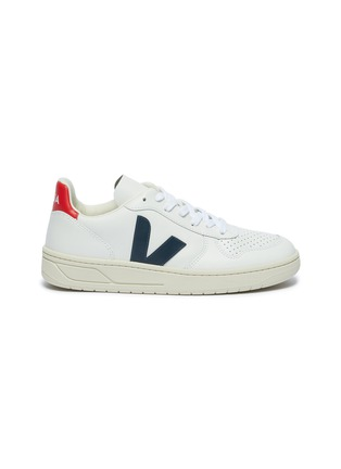 Main View - Click To Enlarge - VEJA - 'V-10' perforated leather sneakers