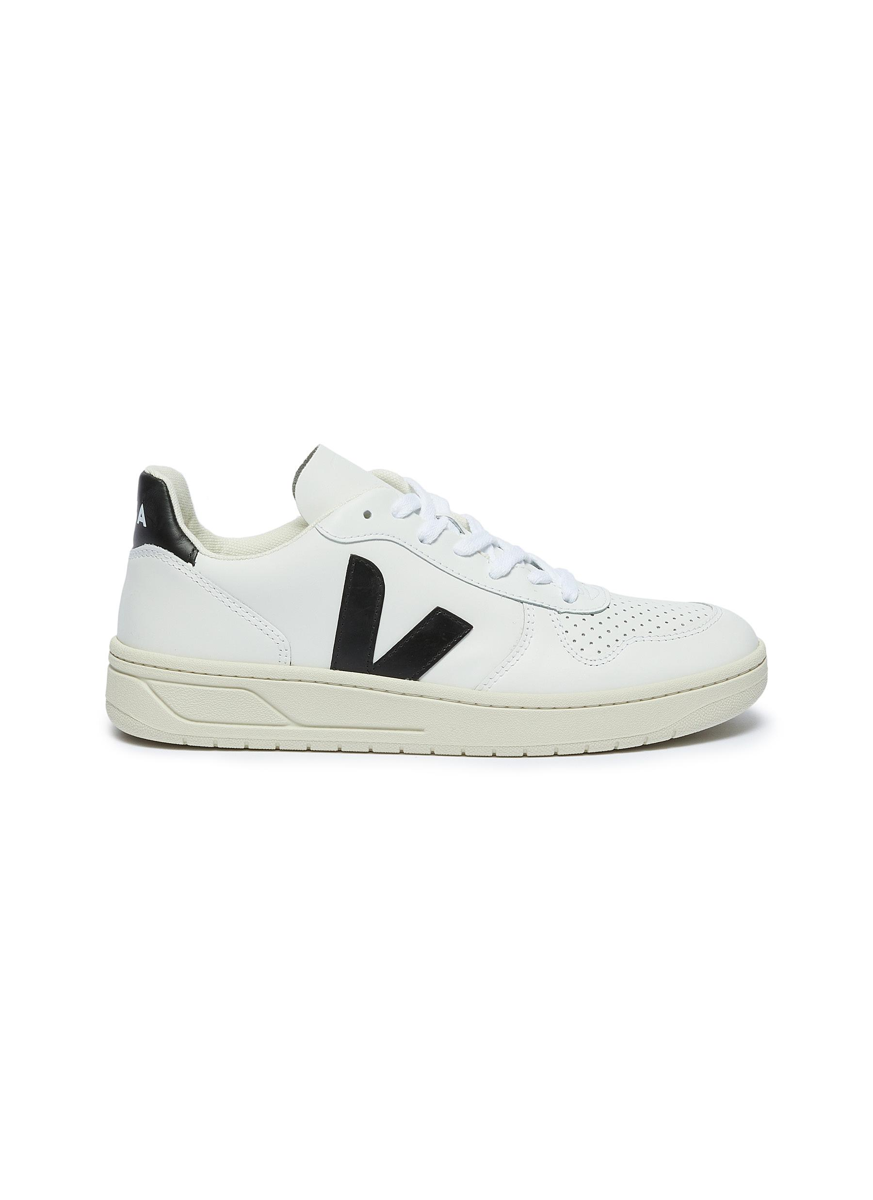 V-10 perforated leather sneakers by Veja