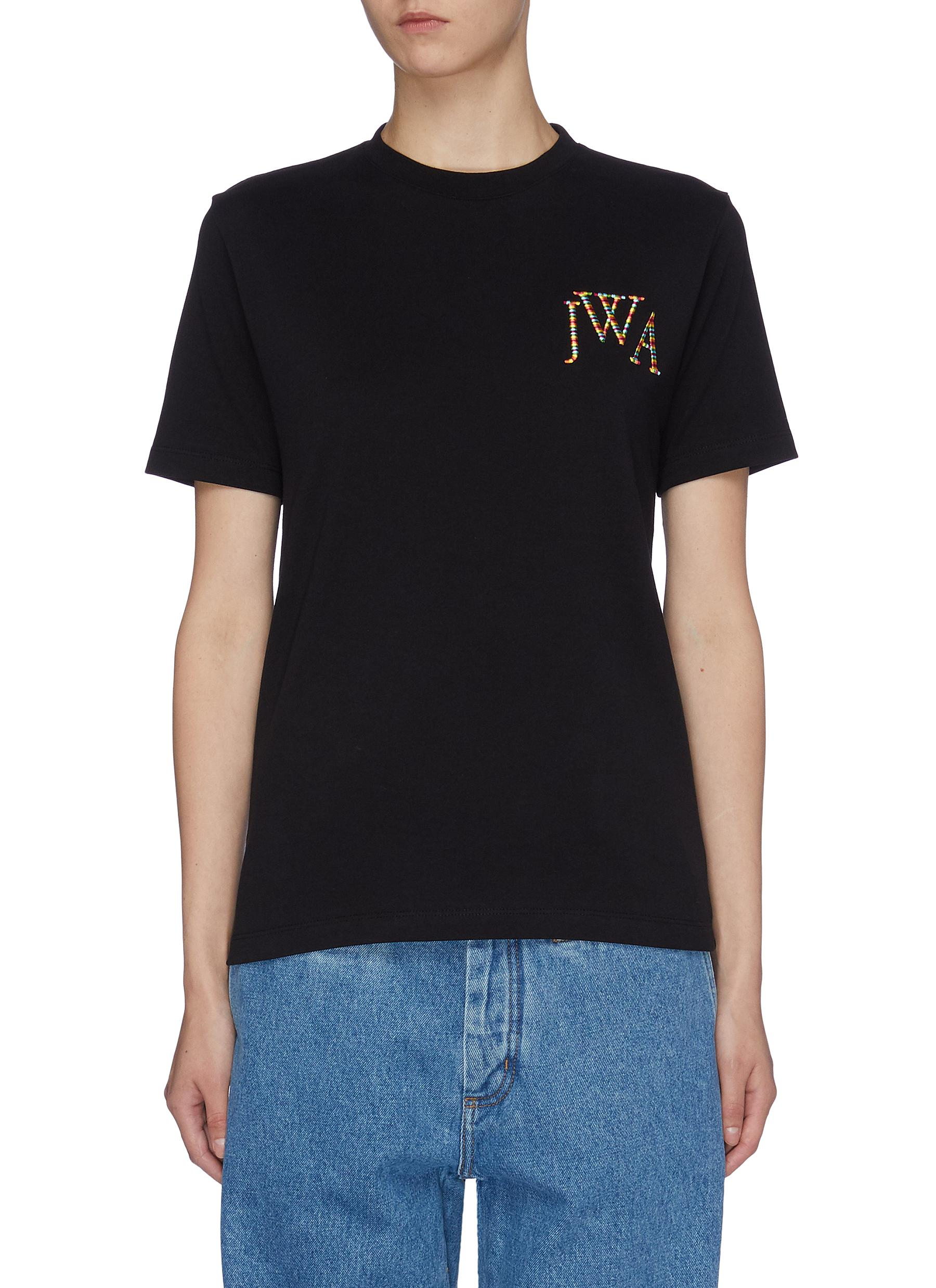 Logo embroidered T-shirt by Jw Anderson