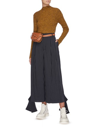 Figure View - Click To Enlarge - JW ANDERSON - Sash cuff pinstripe pants