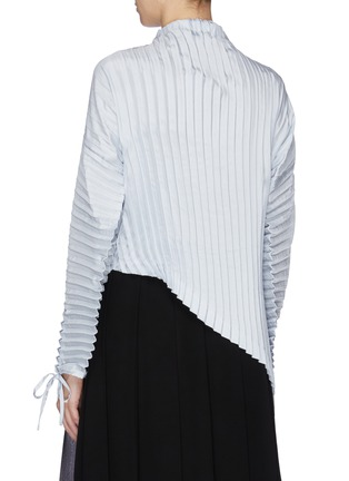 Back View - Click To Enlarge - JW ANDERSON - Sash tie neck pleated asymmetric top