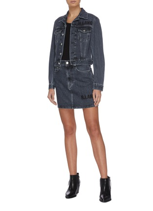 Figure View - Click To Enlarge - HELMUT LANG - 'Acce Midnight' belted denim trucker jacket