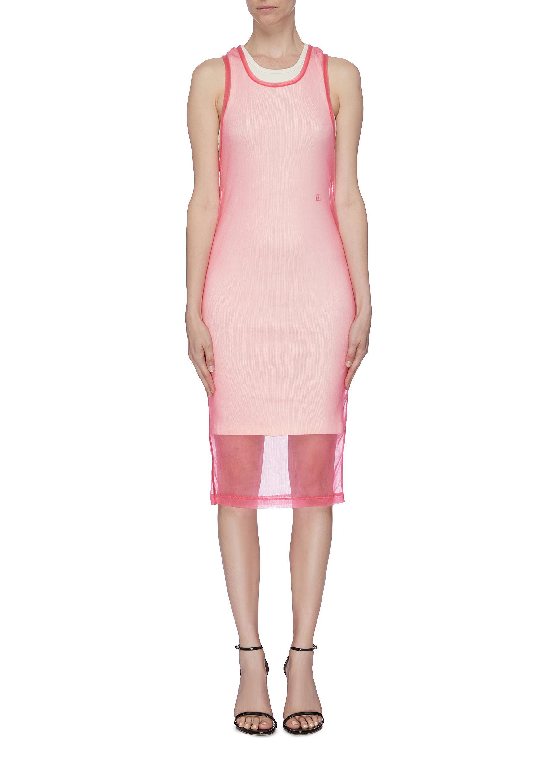 Sleeveless sheer dress by Helmut Lang