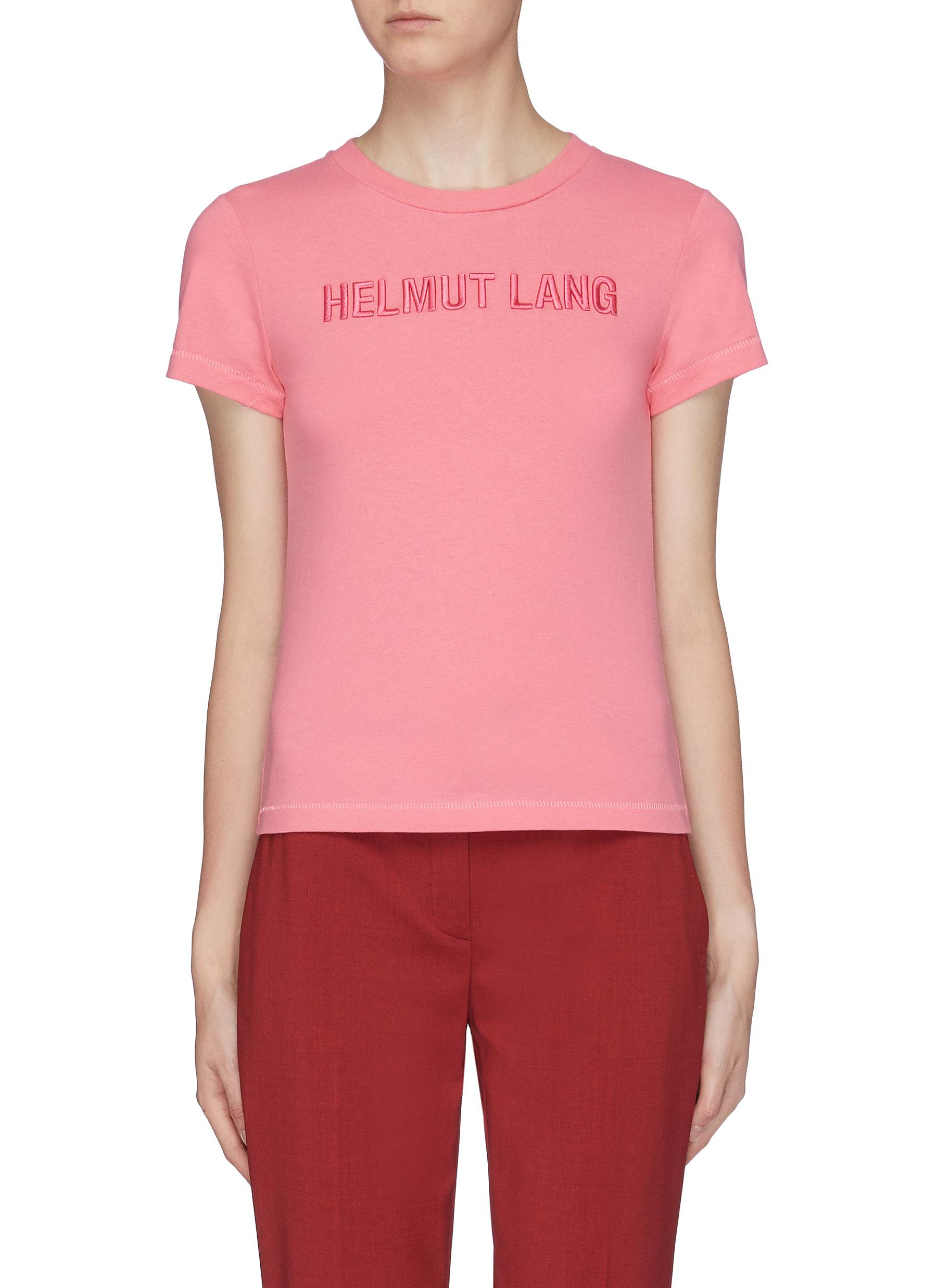 Standard Baby logo embroidered T-shirt by Helmut Lang
