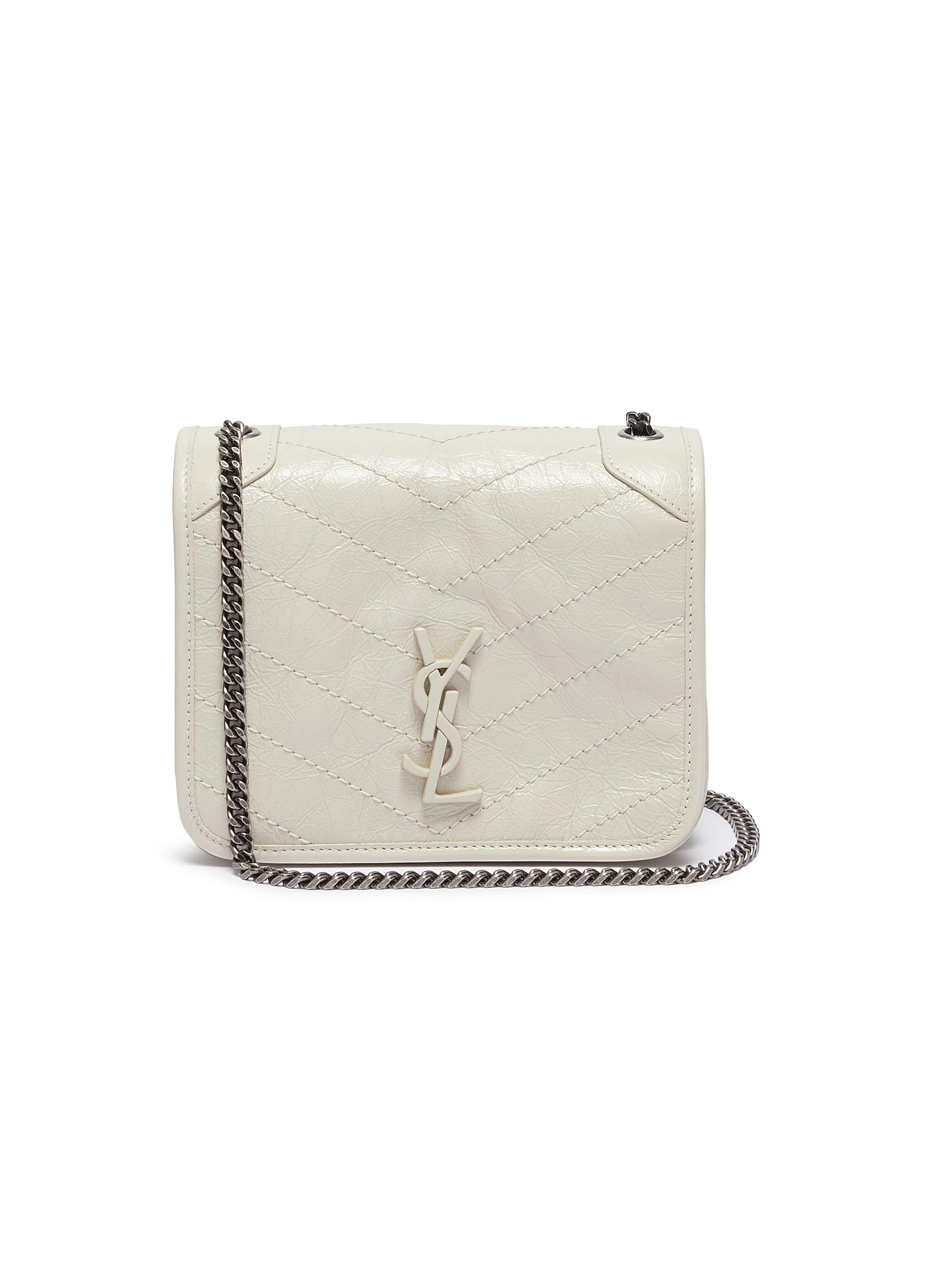b17723fea2 SAINT LAURENT | 'Niki' crinkled leather chain wallet | Women | Lane ...
