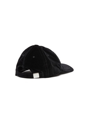 Figure View - Click To Enlarge - MONCLER - 'Berretto' cotton velvet baseball cap