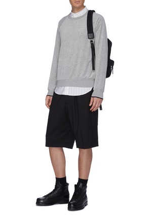 Figure View - Click To Enlarge - 3.1 PHILLIP LIM - Elastic waistband virgin wool shorts