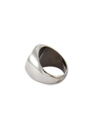 Detail View - Click To Enlarge - BALENCIAGA - 'Precious' logo engraved metal ring