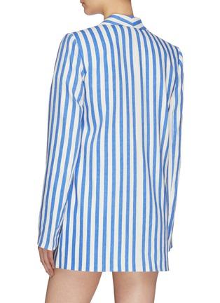 Back View - Click To Enlarge - ALICE + OLIVIA - 'Kylie' shawl lapel stripe blazer