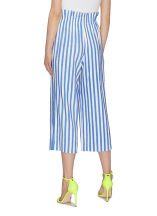 Back View - Click To Enlarge - ALICE + OLIVIA - 'Loni' tie stripe paperbag gaucho pants