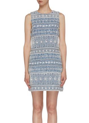 5401b1600 ALICE + OLIVIA 'Coley' tribal embroidered sleeveless dress