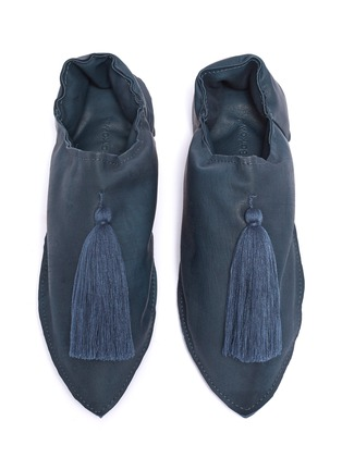 Figure View - Click To Enlarge - VALÉRIE BARKOWSKI - Tassel leather babouche slip-ons