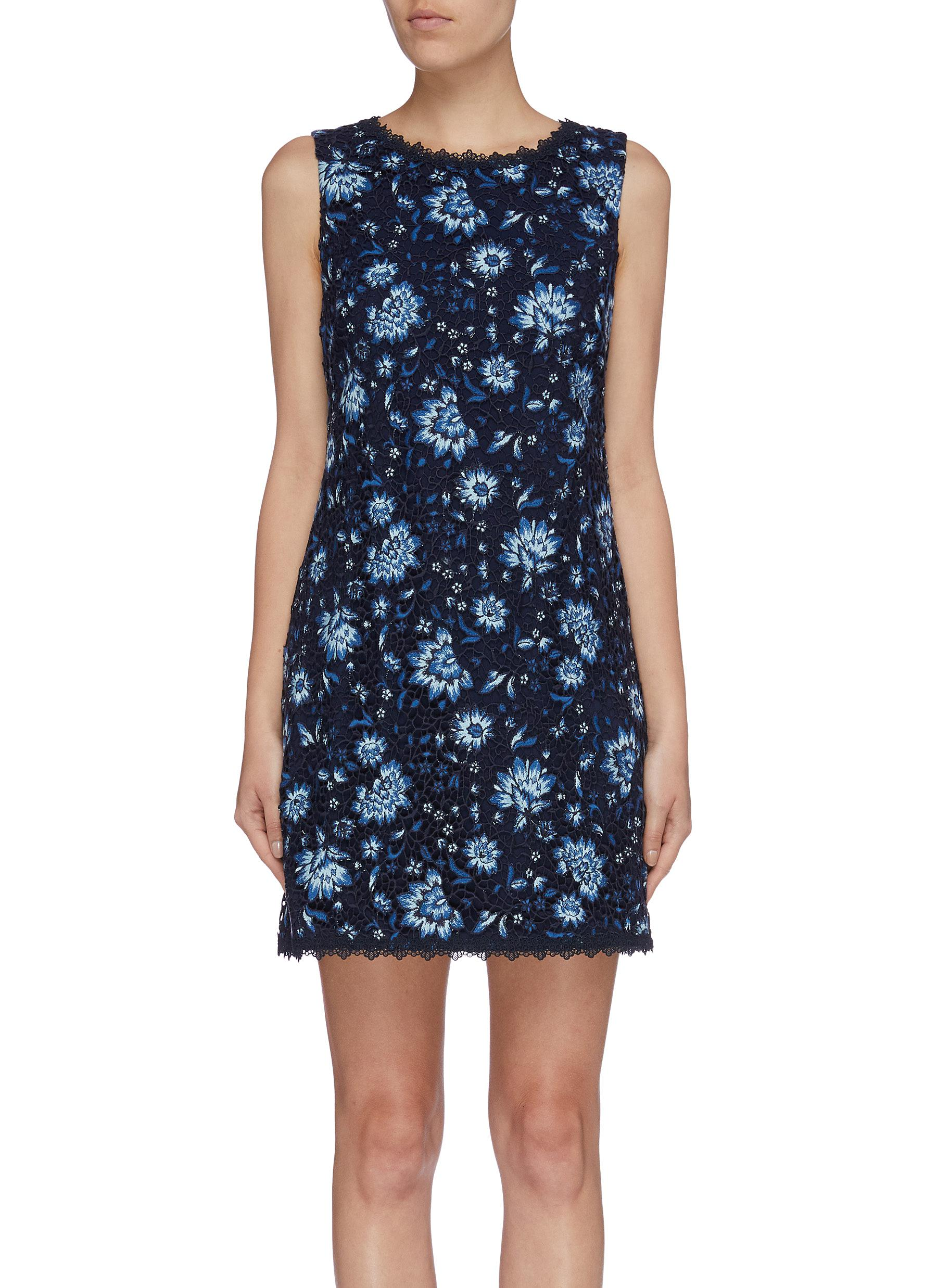 Clyde lace trim floral embroidered shift dress by Alice + Olivia