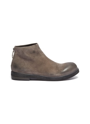 Main View - Click To Enlarge - MARSÈLL - 'Zucca Zeppa' distressed suede boots