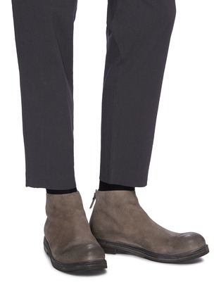 Figure View - Click To Enlarge - MARSÈLL - 'Zucca Zeppa' distressed suede boots