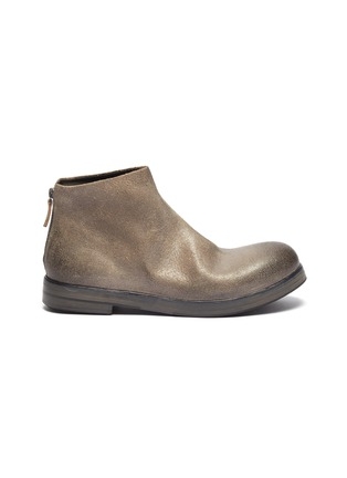 Main View - Click To Enlarge - MARSÈLL - 'Zucca Zeppa' distressed leather boots