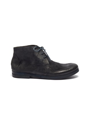 Main View - Click To Enlarge - MARSÈLL - 'Listello' distressed leather chukka boots