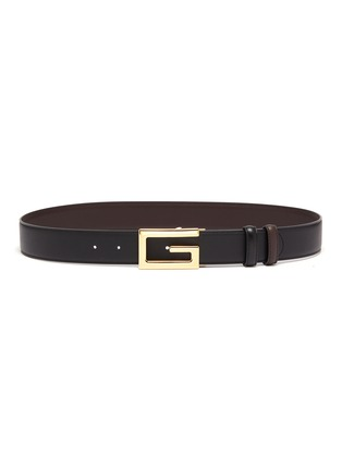 Main View - Click To Enlarge - GUCCI - Square G buckle reversible leather belt