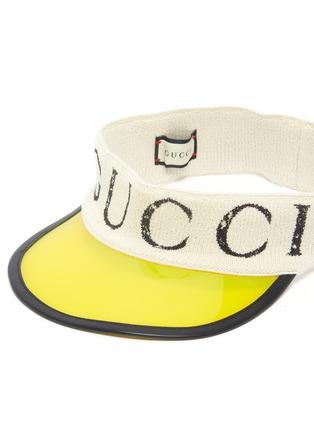Detail View - Click To Enlarge - GUCCI - Logo print terry vinyl visor