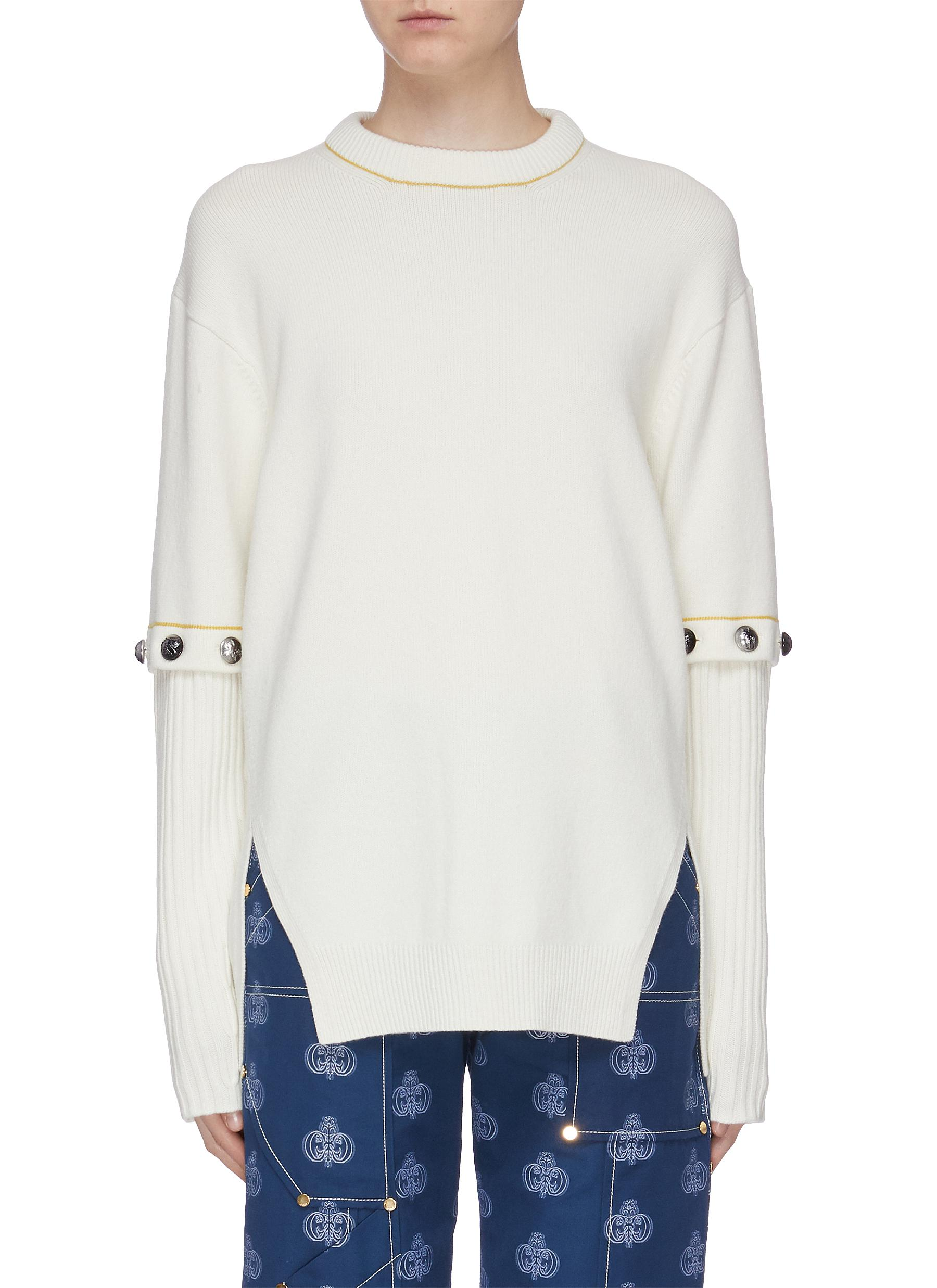 Detachable button sleeve sweater by Chloé