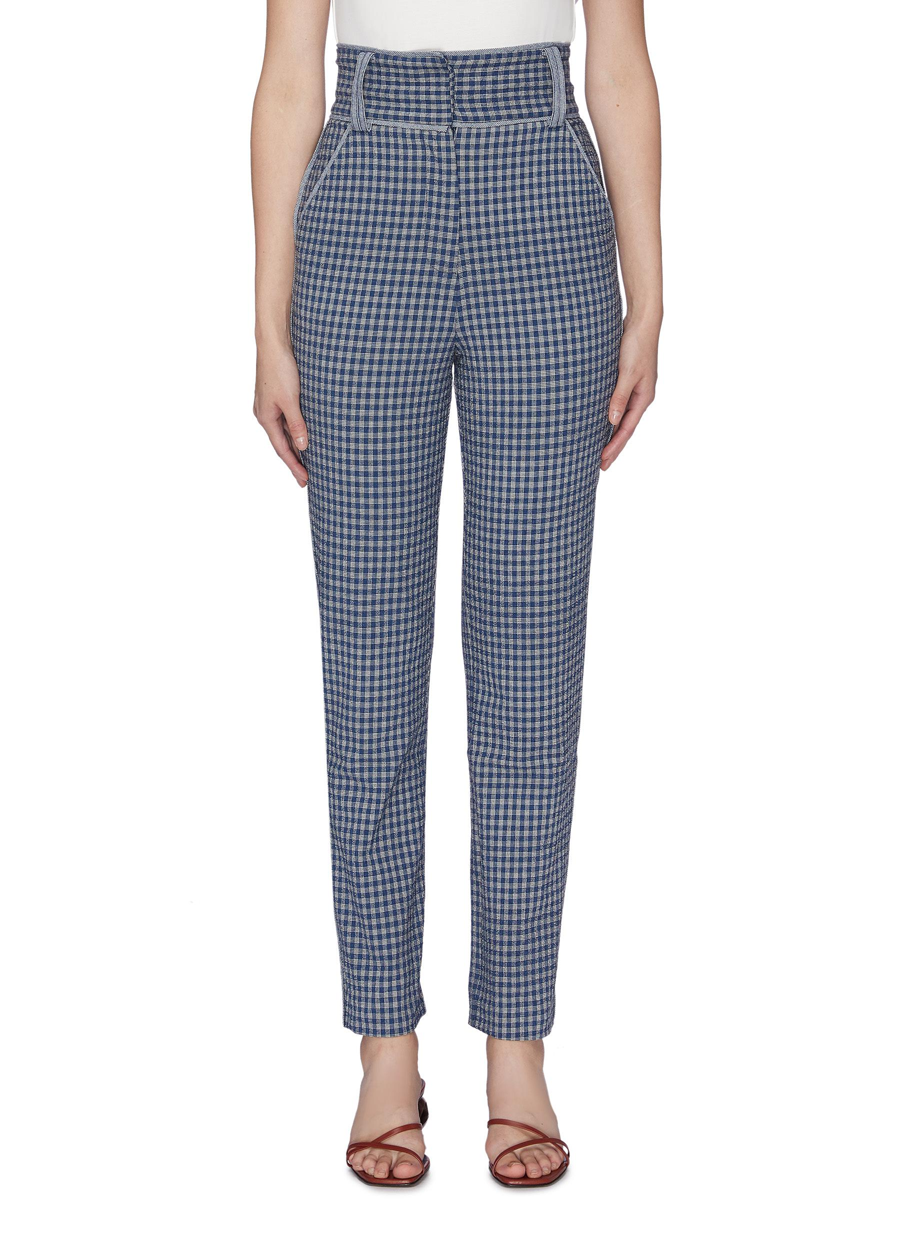 Levels gingham check pants by C/Meo Collective