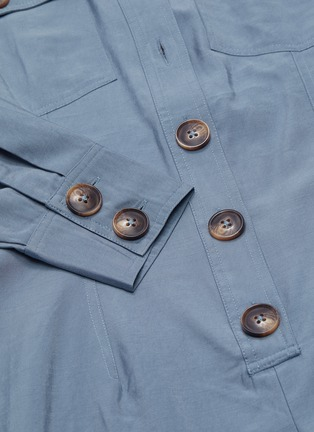 - C/MEO COLLECTIVE - 'No Lies' belted button front wide leg jumpsuit