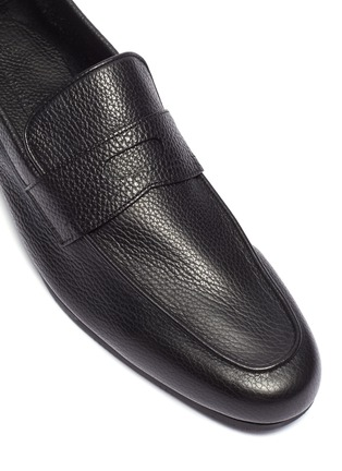 Detail View - Click To Enlarge - JOHN LOBB - Thorne' grainy leather penny loafers