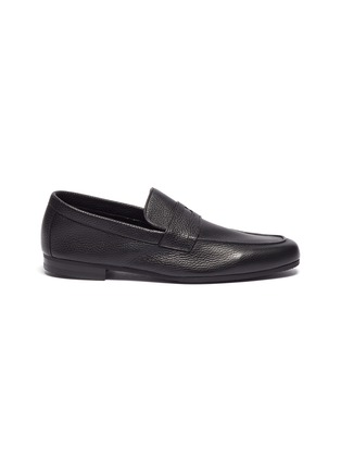 Main View - Click To Enlarge - JOHN LOBB - Thorne' grainy leather penny loafers