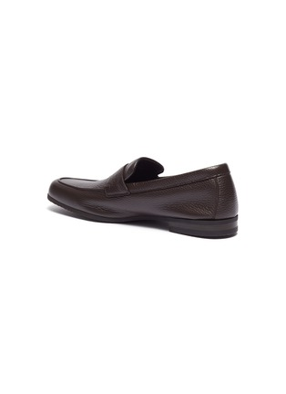 - JOHN LOBB - 'Thorn' grainy leather penny loafers