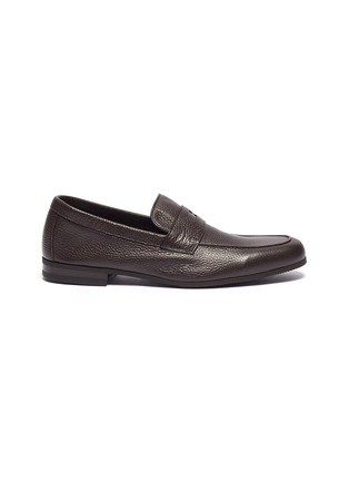Main View - Click To Enlarge - JOHN LOBB - 'Thorn' grainy leather penny loafers
