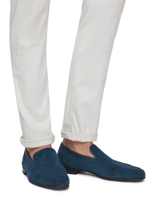 Figure View - Click To Enlarge - JOHN LOBB - 'Tyne' suede loafers