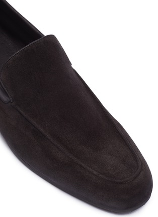 Detail View - Click To Enlarge - JOHN LOBB - 'Tyne' suede loafers